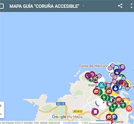 Mapa accesibilidad Coruña