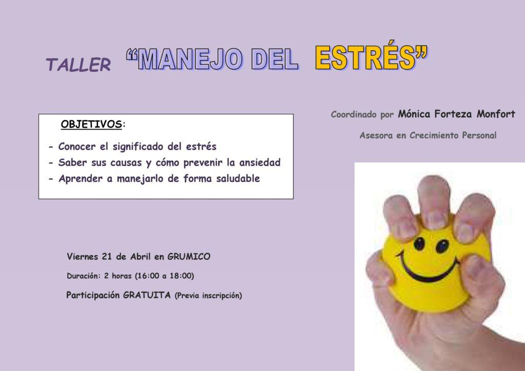 Cartel Taller 3-MANEJO DEL ESTRÉS